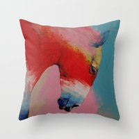 horse Throw Pillows featuring Horse by Michael Creese