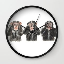 Hear No Evil, See No Evil, Speak No Evil Wall Clock