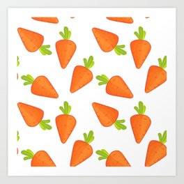 carrot pattern Art Print