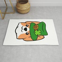 Leprechaun Corgi - St. Patricks Day Rug