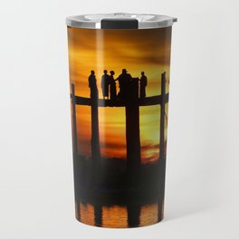 Sunset at U Bein Bridge, Myanmar Travel Mug