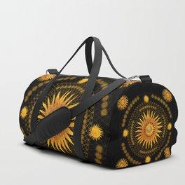 """Black & Gold Vault Mandala"" Duffle Bag"