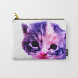 Blue Pink Cute Little Cat Carry-All Pouch