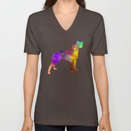Bohemian Wirehaired Pointing Griffon in watercolor Unisex V-Neck