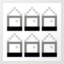 Houses of Squares Art Print