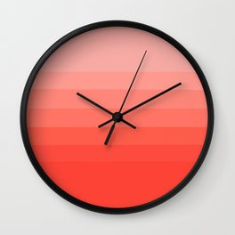 Living Coral Light to Bright Gradient Wall Clock