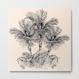 Palm oasis drawing Metal Print