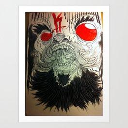 gasp Art Print