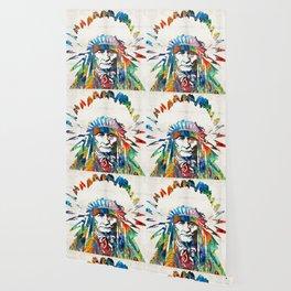 Native American Art - Chief - By Sharon Cummings Wallpaper