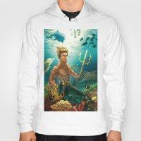 aquaman Hoodies featuring Aquaman Black Lagoon (Dark Water Version)  by Brian Hollins art