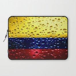 Flag of Columbia - Raindrops Laptop Sleeve