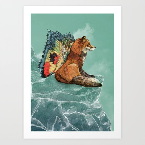 Flying Fox Art Print