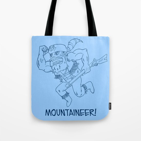 Mountaineer! (blue) Tote Bag