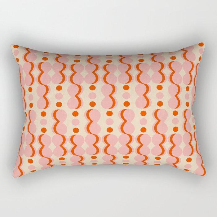 Uende Love - Geometric and bold retro shapes Rectangular Pillow