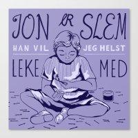 jon contino Canvas Prints featuring Jon by e.gordeladze