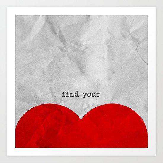 find your half (1 of 2 parts)  Art Print