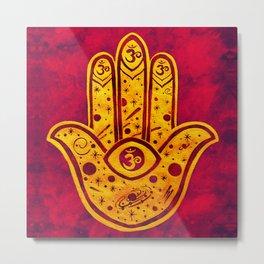 """Hamsa hand"" WATERCOLOR (HAND PAINTED) BY ILSE QUEZADA Metal Print"