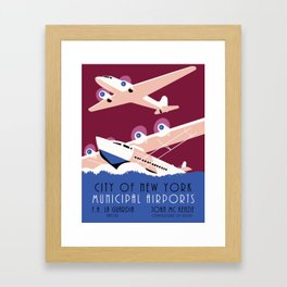 City of New York municipal airports Framed Art Print