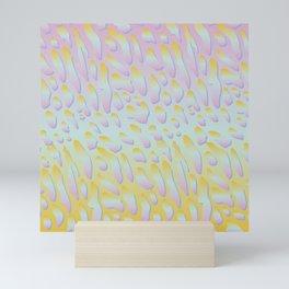 rainbow animal print Mini Art Print