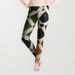 Comares Palace Wall. The Alhambra palace. Details Leggings