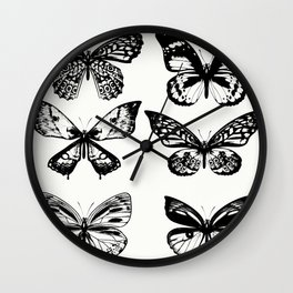 Stylish butterflies : elegant Edition Wall Clock