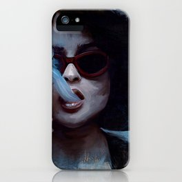Marla Singer Smokes A Cigarette Behind Sunglasses - Fight iPhone Case