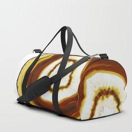 Yellow Gold Agate Geode slice Duffle Bag