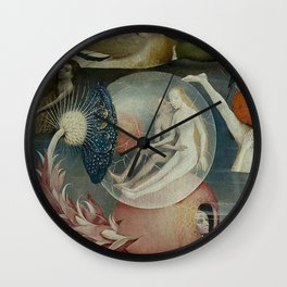 THE GARDEN OF EARTHLY DELIGHTS (detail) - HIERONYMUS BOSCH Wall Clock