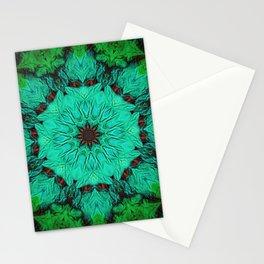 Green & Mint Mandala Stationery Cards