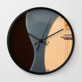 Electric Guitar Study in Blue 2 Wall Clock
