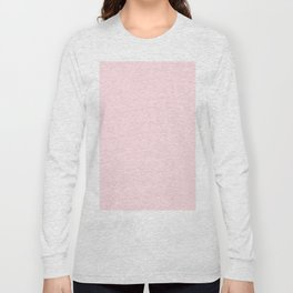 Modern blush pink solid color background design Long Sleeve T-shirt