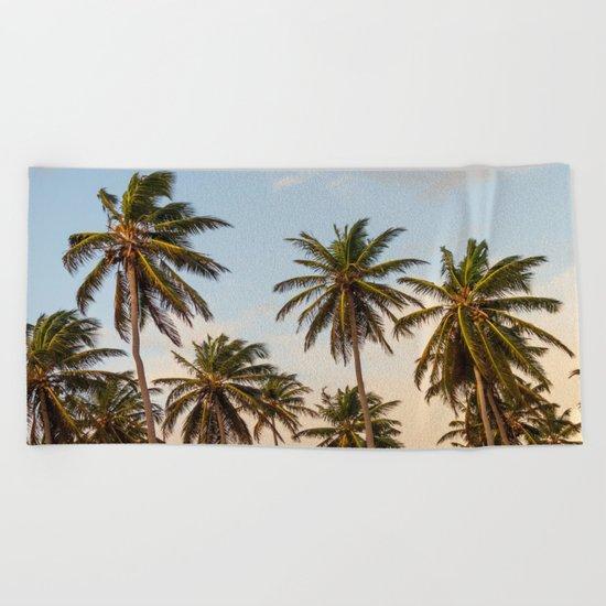 Sky beach palmier Beach Towel