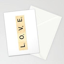 LOVE - Scrabble Letter Tiles Art Stationery Cards