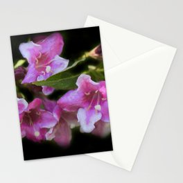 blossoms on black background -02- Stationery Cards