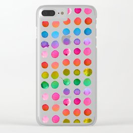 Rainbow Watercolor Clear iPhone Case