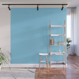 Baby Blue Solid Color Wall Mural