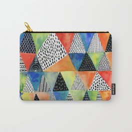 Doodled Geometry Carry-All Pouch