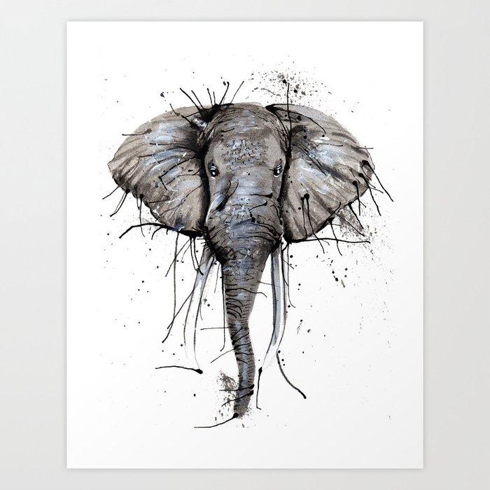 Elephantish Art Print