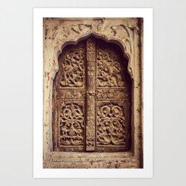 Doors Of Rajasthan 3 Art Print