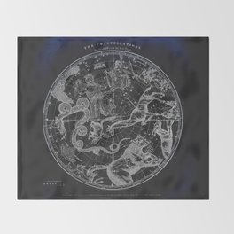 NY, Constellations Throw Blanket