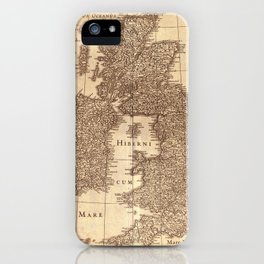 Map Of Great Britain 1631 iPhone Case