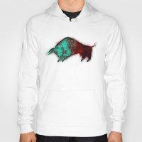bull Hoodies featuring Bull by ewdondoxja