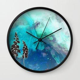 Inverted Foxglove Wall Clock