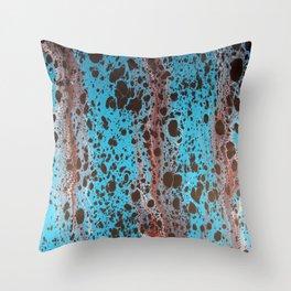 Robin Egg Shell Water Marbling Throw Pillow