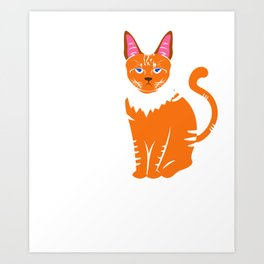 Funny Cat I Hate People Design Art Print