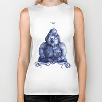 fat Biker Tanks featuring Fat Lady by Anna Cannuzz