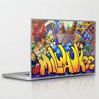 milwaukee Laptop & iPad Skins featuring MILWAUKEE: heartMilwaukee by Amanda Iglinski