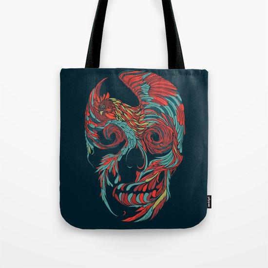Rooster Skull Tote Bag