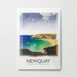 Newquay Metal Print