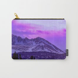 Chugach Mountains in Purple Carry-All Pouch